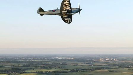 The 'Thank You NHS' Spitfire will fly all over Cambridgeshire and parts of Hertfordshire and Bedford