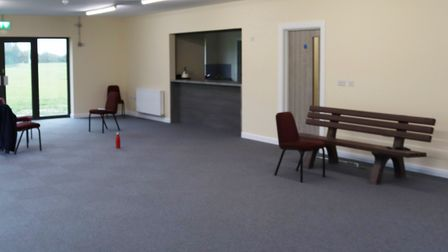 The main meeting room inside the new pavilion on Estover Road. Picture: DAN MASON