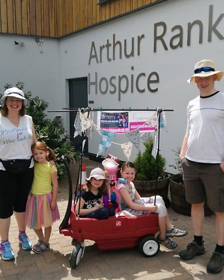 More than £33,500 has been raised at Arthur Rank Hospice Charity's virtual Star Shine Walk during th