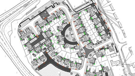 Proposals submitted by Havebury Housing Partnership for 55 affordable homes in Mepal. Pictures: Plan