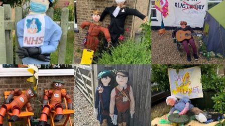 Doddington Village Sports & Carnival's ?75 Years of Great Britain?-themed scarecrow display has take