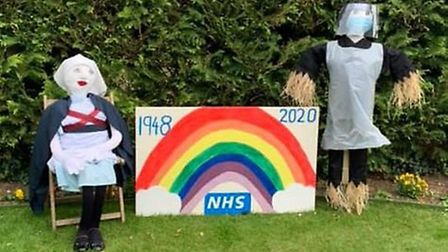Doddington Village Sports & Carnival's '75 Years of Great Britain'-themed scarecrow display has take
