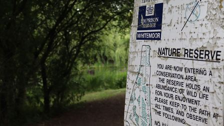A memorial at the nature reserve near HMP Whitemoor in March to remember those who lost their lives