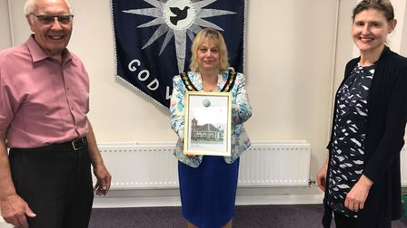 The Whittlesey Emergency Food Aid group (WEFA) received a certificate of appreciation from former ma