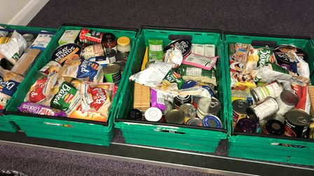 Some of the food parcels that the Whittlesey Emergency Food Aid group have been sending to families