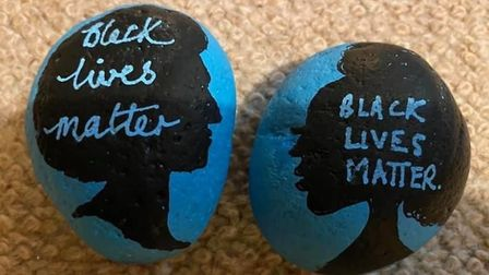 Hundreds of rocks with poweful messages and images have been hand-painted ahead of Ely's Black Lives