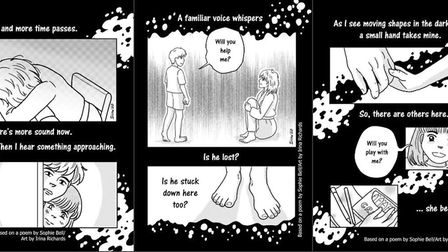 A section from Sophie Bell's comic strip. Picture: Babylon Arts