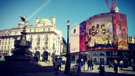 Nurses from Royal Papworth Hospital have appeared on the famous big screen in Piccadilly Circus in L