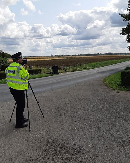 Officers from the East Cambs Neighbourhood Policing Team were out conducting traffic enforcement and