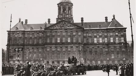 Nazis entering Amsterdam at the start of the Second World War. HMS Walpole, a warship adopted by the