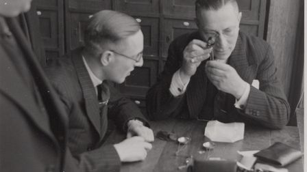 Diamond dealers at work. Operation Amsterdam's mission was to locate and retrieve industrial diamond