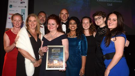 Ely Standard East Cambridgeshire Business Awards 2019. Small Business of the Year winner Page Medica