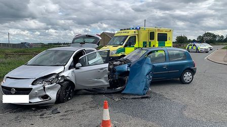 Two were seriously injured after a collision on the Doddington Road, Chatteris, near to its junction