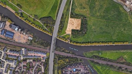 The body of a woman aged between 50 and 70 was discovered in the River Nene in Peterborough on Sunda