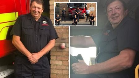 Soham?s longest-serving firefighter, Paul Fordham, has been commended for reaching a ?remarkable? 40