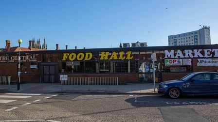 The food hall at Peterborough Market is closed for a deep clean after two people connected with the