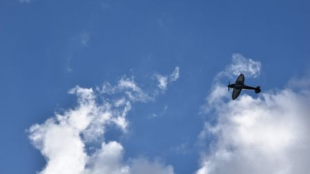 The special 'Thank U NHS' Duxford Spitfire flying over the region to mark the 72nd birthday of the N