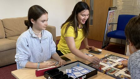 Felsted School pupils in a boarding house playing a game. Picture: Felsted School