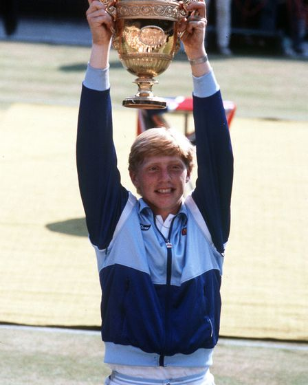 Boris Becker of West Germany, became the youngest person ever and the first unseeded player to win t