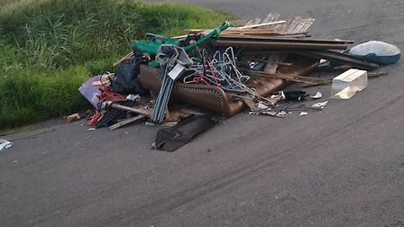 The fly tipping that greeted early morning commuters in the Fens on July 13. Council officials respo
