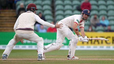 Alastair Cook in batting action for Essex during Somerset CCC vs Essex CCC, Specsavers County Champi