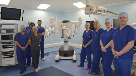 The surgical robot which is used to perform life changing operations with the team led by consultant