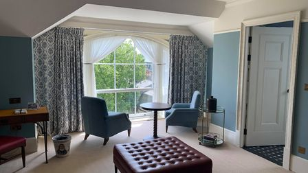 Cambridge's University Arms is the perfect place for your UK staycation this summer. The interior of