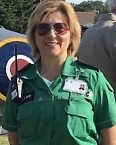 Dita Lee, an advanced first aider from Cromer, is one of many St John's Ambulance volunteers support