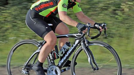 Alison Holmes racing on her road bike in the Ely club race. Picture: DAVEY JONES