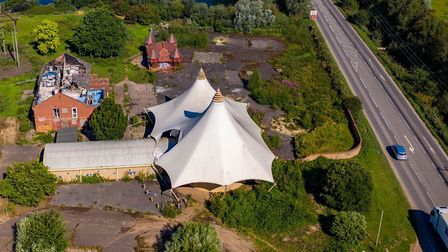 Mepal Outdoor Centre. Aerial shots taken today (July 31) show the extent of the grounds. Picture; TE