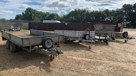 A 24-year-old man from March has been arrested after a stolen trailer and four others also suspected