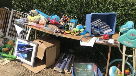 Residents turned out in force for the first Whittlesey yard sale, selling items from shoes to clothe