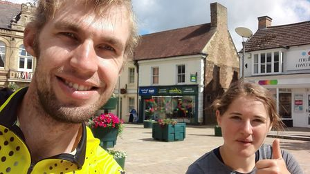 Ollie Wright completed a gruelling bike ride which took him over 10 hours to complete to raise money