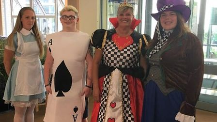 The catering team at Sanctuary Retirement Living's Doddington Court dressed as popular characters fr
