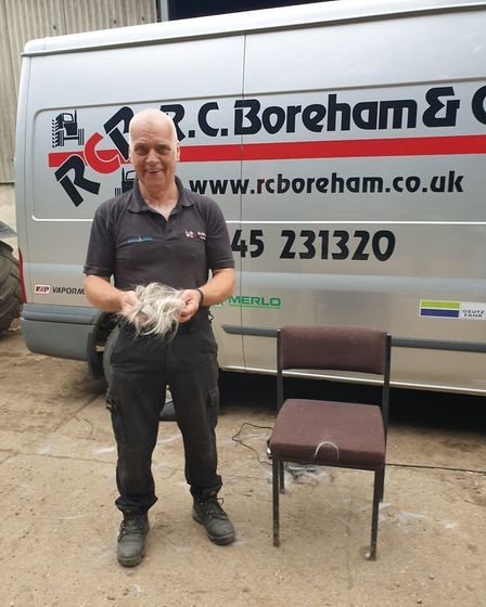 Rod Brett from Barnston after his haircut. Picture: Havens Hospices