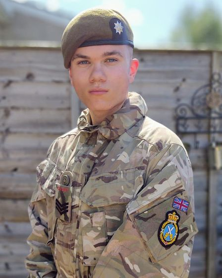 Dwight Bruno, from Ely, pictured showing his High Sheriff badge. Pictures: Cambridgeshire Army Cadet