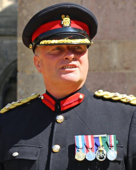 The High Sheriff of Cambridgeshire, Brigadier Tim Seal TC DL. Pictures: Cambridgeshire Army Cadet Fo