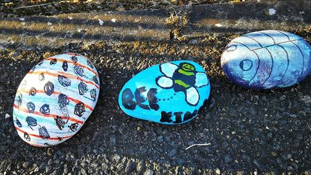 Residents in Chatteris have been placing stones at the towns Parish Church of St Peter & St Paul dur