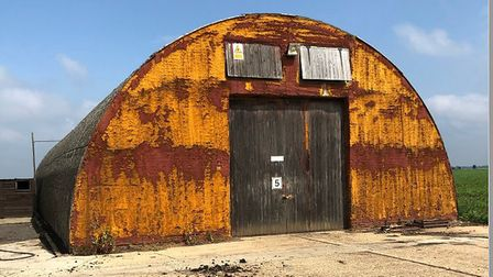 A Nissen hut at a farm in Haddenham is to be demolished by asbestos experts. Pictures: From East Cam