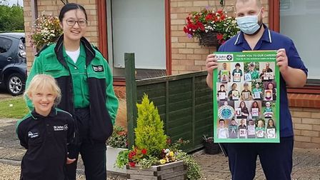 St John Ambulance Ely''s youth team (cadets and badgers) got together to make a poster to say thank