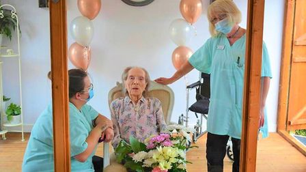 Soham Lodge Care Home held a ceremony to open their newly built family visiting room on July 23. Peg