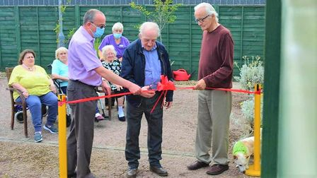 Soham Lodge Care Home held a ceremony to open their newly built family visiting room on July 23. Res