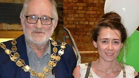 Outgoing Mayor of Ely, Michael Rouse (left) pictured with his consort, daughter Lauren. Picture take