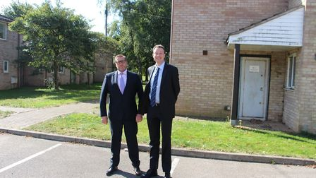 Mayor James Palmer with Simon Clarke, a Government minister at the Treasury, during a visit to the M