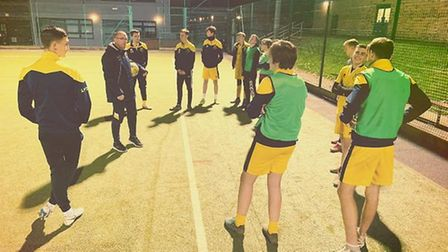Thaxted Rangers youngsters at a training session (pic Malcolm Coleman)