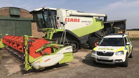 More than £10,000 worth of tractor GPS systems were stolen from a farm on Barway Road near Ely and S