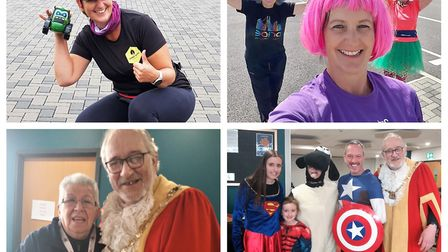 Littleport runners Cathy Gibb-de Swarte, Jo White and Lizzie Hyslop have been fundraising during the