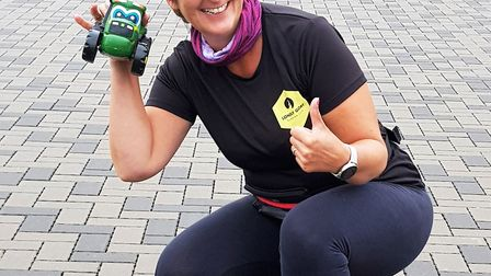 Jo White completed the Manea Virtual 5k 'beat the tractor' event. Picture: SUPPLIED/CATHY GIBB-DE SW