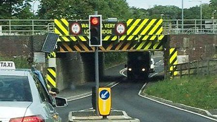 CCTV is set to be installed at Britains most bashed bridge on Stuntney Road in Ely. Picture: Archant