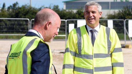 MP Steve Barclay at the historic 'spade in the ground' moment when Kings Dyke crossing project got u